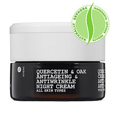 My latest obsession is the KORRES antiaging /wrinkle line. I am being pro-active! Quercetin & Oak Night Cream  $52