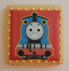 Sugar Mama Cookies: Edible Image Thomas the Train Cookies