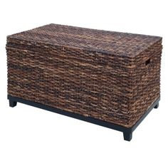 Target Home ~ Global Dark Wicker Trunk. This little beauty is just $80 and can be used for storage or as a small coffee table!