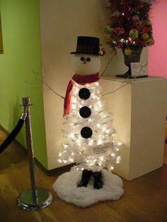 muñeco de nieve- arbol de navidad