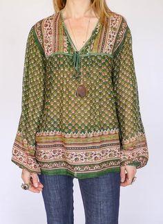 Vintage Indiase hippie tuniek @ www.secondhandnew.nl