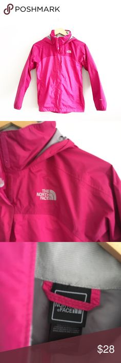 The North Face Girls HyVent Pink Windbreaker Gentle pre-loved with no rips or stains.  North Face Girls HyVent windbreaker rain jacket pink Sz L 14/16 Lightweight The North Face Jackets & Coats Raincoats
