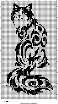 Long haired cat graph pattern