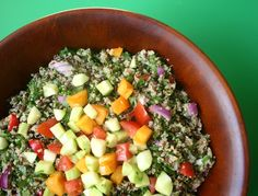 """Lentil and Quinoa Salad with Herbs tastes so fresh -- sort of a protein-packed Phase 1 tabbouleh. Just follow the link to """"Like"""" Haylie on Facebook and download our free Vegetarian/Vegan Mini-Cookbook!"""