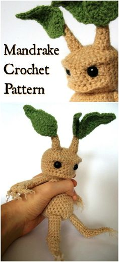 This adorable Mandrake Crochet Amigurumi stuffed toy pattern from Harry Potter i. - This adorable Mandrake Crochet Amigurumi stuffed toy pattern from Harry Potter is the perfect handm - Baby Harry Potter, Harry Potter Enfants, Harry Potter Dolls, Harry Potter Crochet, Harry Potter Mandrake, Harry Potter Gifts, Amigurumi Free, Crochet Patterns Amigurumi, Amigurumi Doll