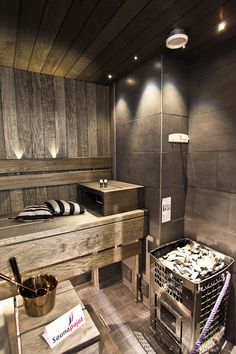Amazing home sauna design ideas spa room/shower/sauna in 2019 сауна, парилк Saunas, Sauna Design, Home Gym Design, House Design, Diy Sauna, Homemade Sauna, Sauna Hammam, Sauna Seca, Indoor Sauna