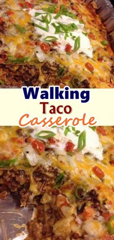 Walking Taco Casserole – Page 2 – Best Skinny Recipes food recipe casseroles Casserole Taco, Casserole Dishes, Casserole Recipes, Meat Recipes, Mexican Food Recipes, Cooking Recipes, Healthy Recipes, Waffle Recipes, Snacks Recipes