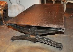 Circa 1900's French Iron Industrial Coffee Table image 2