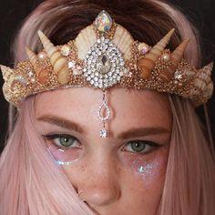 Mermaid crown Festival Headpiece