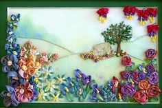 ribbon embroidery patterns flowers | ribbon landscape kit fee $ 30 2 days create this beautiful silk ribbon ...