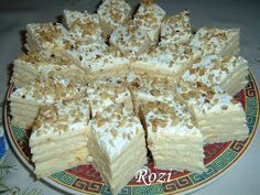 Rozi Erdélyi konyhája: Hófehérke sütemény Croatian Recipes, Hungarian Recipes, Feta, Sweet Treats, Dairy, Sweets, Cheese, Cookies, Cake