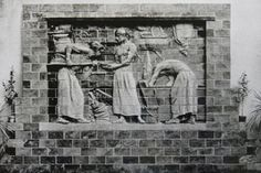 "Old photo of low relief feature ""the bakers"" by Alexander Charpentier. Architectural Antiques, Old Photos, Stoneware, Architecture, Artist, Painting, Old Pictures, Arquitetura, Vintage Photos"