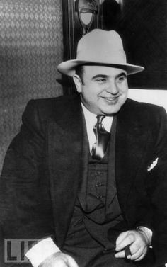 """Al Capone and Nucky Johnson In 1929, Johnson arranged for Atlantic City to host the notorious Atlantic City Conference, the first summit of the country's major organized-crime figures, including Al Capone, Luciano, Lansky, and Arnold """"the Brain"""" Rothstein. The meeting led to the formation of the National Crime Syndicate."""