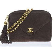 Pre-owned Chanel Brown Suede Vintage Tassel Bag (£770) ❤ liked on Polyvore  featuring bags 8575e4ea38