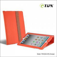 Funda de cuero para iPad con función soporte, dos posiciones de visualización.