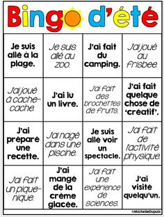 Free BINGO get to know you teambuilding game plus back to school tips Bingo, French Teacher, Teaching French, French Teaching Resources, Back To School Activities, Summer Activities, French Education, Core French, Primary Teaching