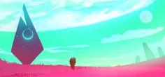 ArtStation - No Man's Sky - Out of Reach, Tyler Street Alien Spaceship, No Man's Sky, Large Canvas Wall Art, Sky Art, Wall Art For Sale, Science Fiction Art, Beautiful Artwork, Wallpaper S, Drawing S