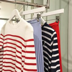 Shop the looks our personal shoppers are loving, pleated midis and breton stripes are trending now. #Topshop