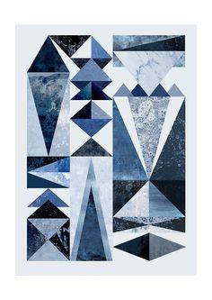 East End Prints Ltd - Blue Shapes, £19.95 (http://www.eastendprints.co.uk/products/blue-shapes.html)