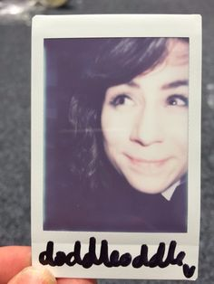 """""""You would find her in a Polaroid picture"""""""