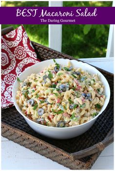 BEST Macaroni Salad.