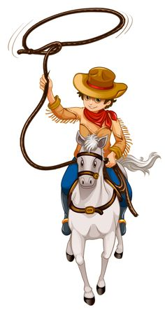 """Photo from album """"Индейцы, ковбои"""" on Yandex. Cowboy Love, Cowboy Theme, Western Theme, Cowboy And Cowgirl, Clipart Boy, Cute Clipart, Story Drawing, Human Drawing, Clip Art Pictures"""