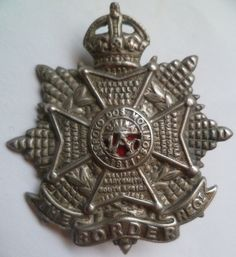 The Border Regiment Cap Badge. A nice original badge in white metal. British Army military badges and insignia for sell Military Cap, Military Insignia, British Uniforms, British Army, Commonwealth, Badges, Ww2, The Originals, Metal
