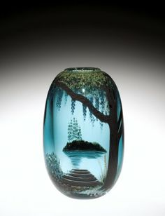 Vessel by Mark Peisser, 1981. | Corning Museum of Glass #glass #Contemporary #vessel