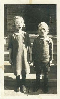 "Halloween…As simple as their ""costumes"" are they are surprisingly more creepy then anything kids wear today!"