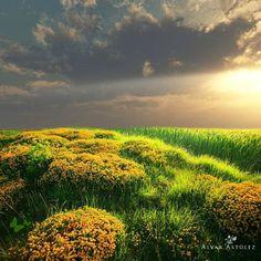 zon en wolken...