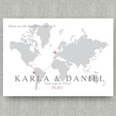 wedding location map save the date by paper and inc   notonthehighstreet.com