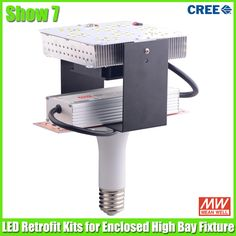LED Retrofit Kits with Internal Drvier, vertical installation, mostly for enclosed high bay fixture replacement