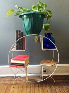 A personal favorite from my Etsy shop https://www.etsy.com/listing/206089498/vintage-mid-century-modern-plant-stand