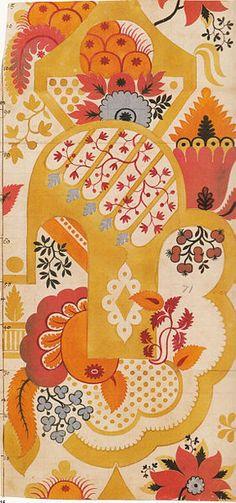 James Leman design for woven silk textile