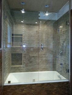 Frameless Glass Shower And Tub Enclosure Near Atlanta, Georgia (Beauty Design  Showers)