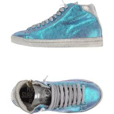 P448 Sneakers ($98) ❤ liked on Polyvore featuring shoes, sneakers, turquoise, genuine leather shoes, rubber sole shoes, round toe shoes, real leather shoes and round toe sneakers