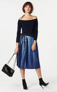 #plisse #skirt #plisserok #metallic #blue #whkmpsown #Wehkamp #damesmode #fashion