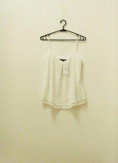 Kup mój przedmiot na #vintedpl http://www.vinted.pl/damska-odziez/bluzki-bez-rekawow/18798705-wymiana-40-zl-nowa-top-bluzka-mango-zwiewna-szyfonowa-dwuwarstwowa-biala-34-xs