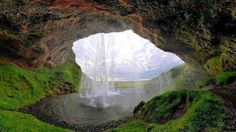 Waterfall in Carpathian Mountains