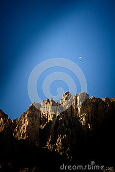 Paragliding flying in Dolomiti Mountains (Alps), Italy.