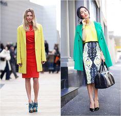 cores no inverno - como usar cores - combinação de cores-  looks de inverno - Dia de Estilo - blog de moda