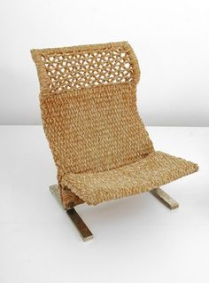 Macrame Lounge Chair by Saporiti, ITALY, c.1975.