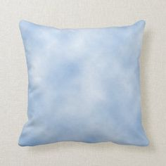 Blue Tie Dye Clouds Throw Pillow