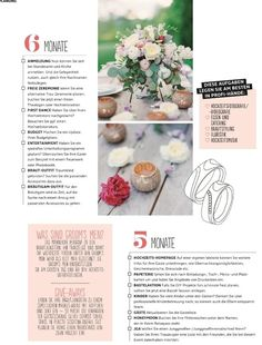 High Emotion Weddings featured in the new Braut und Bräutigam Magazin! Wedding Magazine, Catering, Wedding Countdown, Vintage Tea, High, Party Fashion, Tea Party, Wedding Planning, Place Card Holders