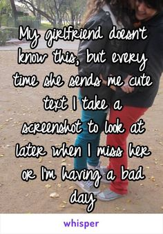 My girlfriend doesn't know this, but every time she sends me cute text I take a screenshot to look at later when I miss her or I'm having a bad day <<<I do this with my boyfriend Cute Couples Texts, Couple Texts, Couple Quotes, Relationship Goals Text, Cute Relationships, Distance Relationships, Boyfriend Girlfriend Texts, I Miss My Boyfriend, Future Girlfriend