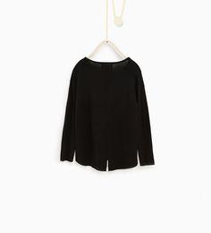 ZARA - KIDS - Sweater with faux leather pockets