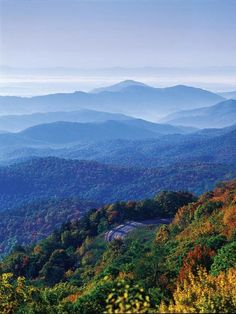 Blue Ridge Parkway from Virginia to North Carolina::  Get a taste of the south and it's wild beauty with a journey through the Appalachian Mo...