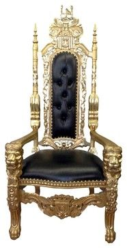 Black And Gold Throne | Throne King Chair, Gold/Black   Traditional