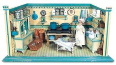 German kitchen c 1910 by Christian Hacker ..Theriaults $5000