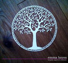 Papercut tree by Emma Boyes (Emma Boyes- papercuts)